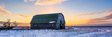 Barns On The Prairies In WInter
