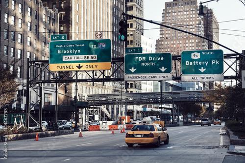 Foto auf AluDibond New York TAXI Taxi on Manhattan Street