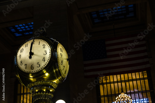 Grand Central Station NY Famous Clock Canvas Print