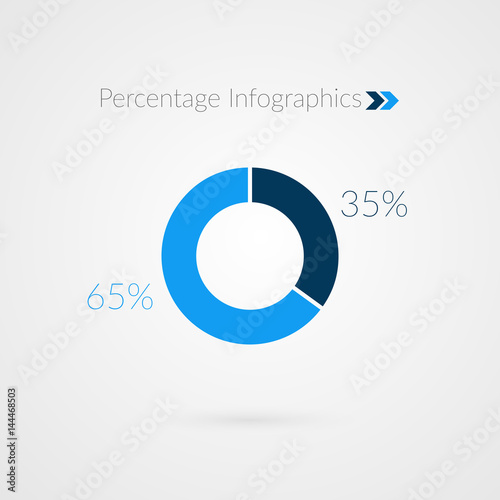35 65 percent blue pie chart symbol percentage vector infographics 35 65 percent blue pie chart symbol percentage vector infographics circle diagram isolated ccuart Images