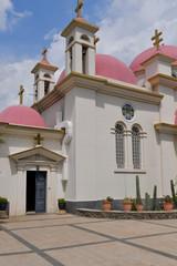 Fototapeta na wymiar Church of the Twelve Apostles (also known as the Church of the Seven Apostles), Capernaum, Israel