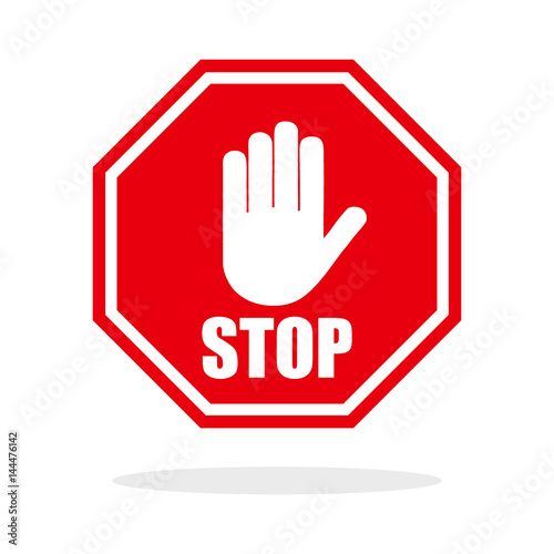 Fotomural  Red stop hand sign