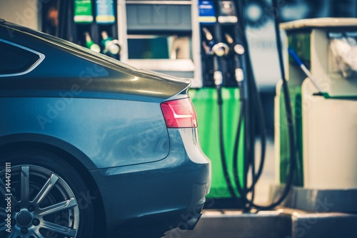 Photo  Gas Station Car Refueling