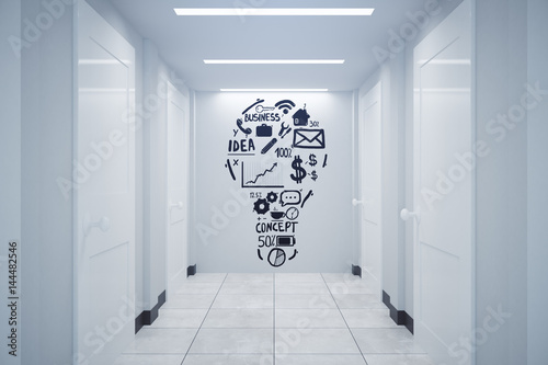 Staande foto Industrial geb. Business ideas concept