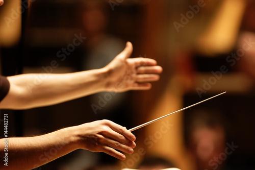 Fotografía  mains de chef d'orchestre