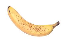 Ripe Organic Banana Isolated O...