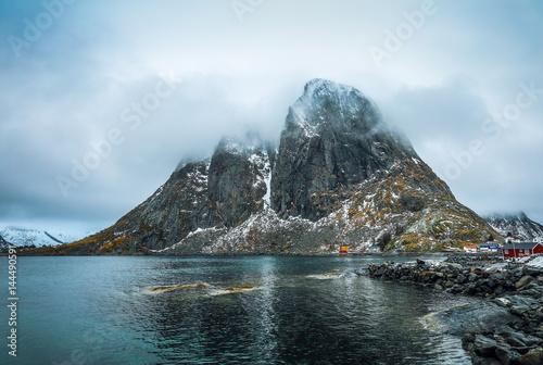 Spoed Foto op Canvas Antarctica Lofoten islands. Beautiful Norway spring landscape.
