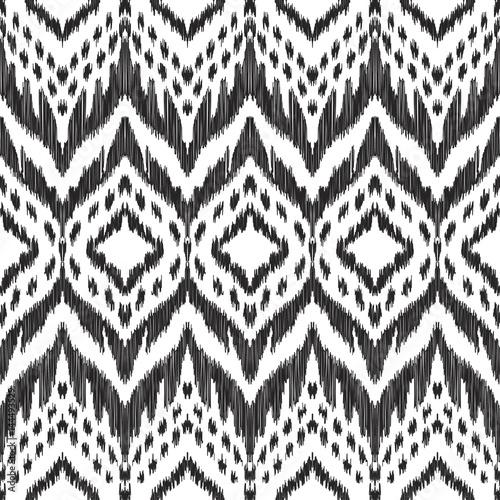 In de dag Boho Stijl Vector Ikat seamless pattern. Navajo, aztec ornament. Creative hippies print. Black and white colored illustration. American ethnic backdrop.