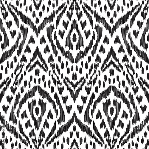 In de dag Boho Stijl Vector Ikat seamless pattern. Bohemian ornament. Creative hippies print. Stylish ethnic backdrop. Boho chic style. Hipster design.