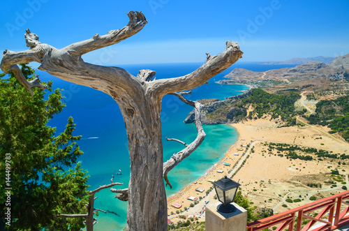 rhodes greece tsabika beach