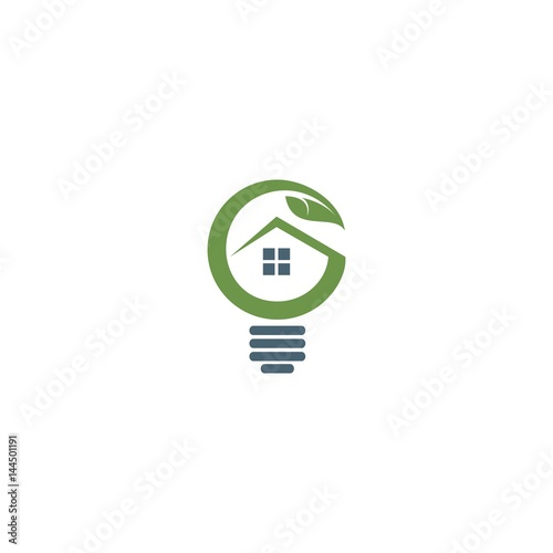 Fantastic Abstract Light Bulb With Leaf And House Inside Buy This Download Free Architecture Designs Scobabritishbridgeorg