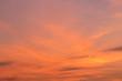 Leinwandbild Motiv Red cloud over sky in sunset time