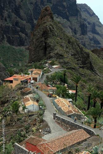 Deurstickers Canarische Eilanden Masca Gorge, Tenerife, Canary Islands, Spain