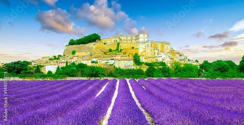 Foto op Plexiglas Lavendel Château de Grignan en Provence, France