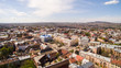 Chernivtsi old city from above Western Ukraine. Sunny day of the city.