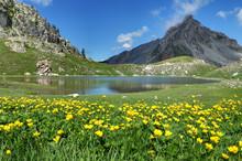 Lac De Montagne Dans Le Mercan...