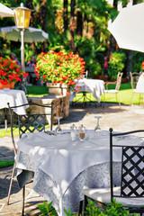 FototapetaTypical restaurant terrace Ascona