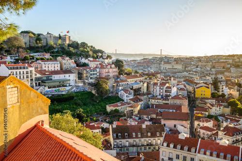 Tuinposter Athene Vue générale de Lisbonne