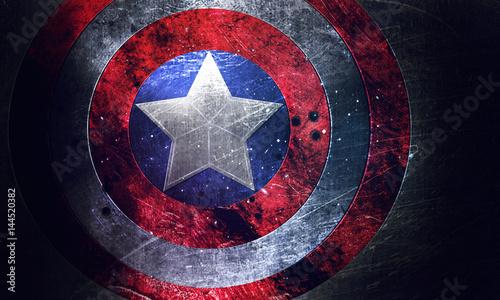 Vászonkép  Щит со звездой