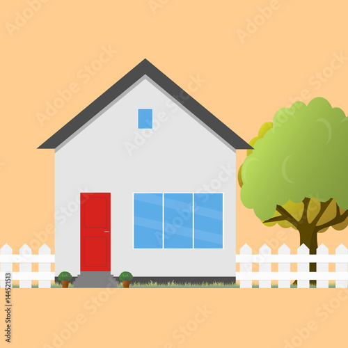 Colorful house concept. House flat icon. Design your own apartment ...