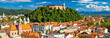 City of Ljubljana panoramic view