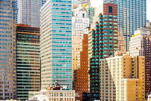 Photo  Manhattan's  skyscrapers. New York City