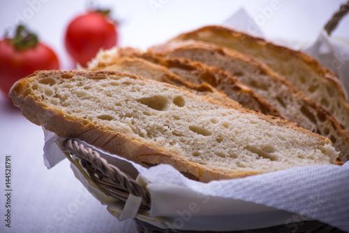 fette di pane casereccio , Altamura , Puglia , Italia Canvas Print