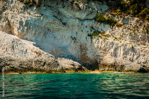 Greece, Zakynthos, August 2016. Rocks, caves and blue water #144531180