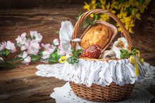 Traditional Easter Basket With...