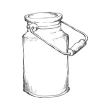 Milk Can Container Icon Vector...