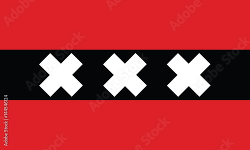 vector of amsterdam city flag Canvas Print