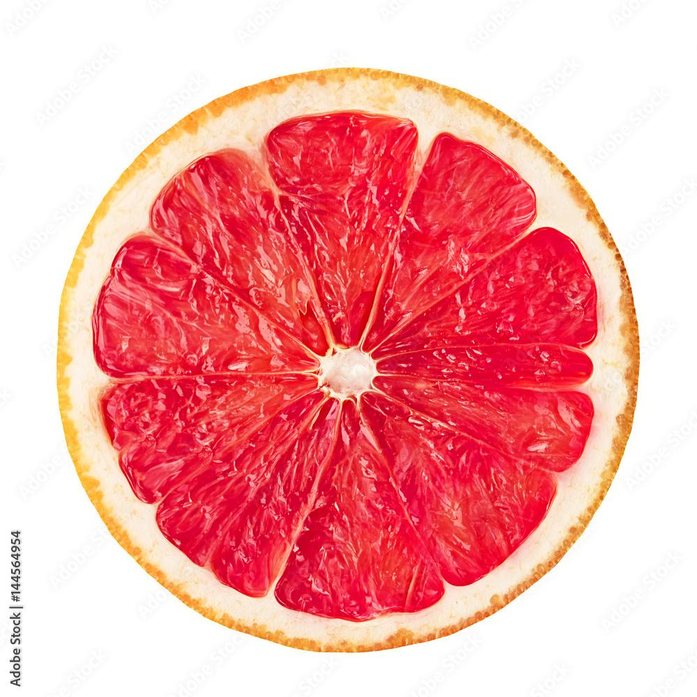 Fotografie, Obraz Grapefruit on white isolated background