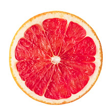 Grapefruit On White Isolated Background