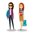 young people style character vector illustration design