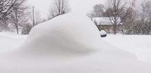 Car Buried After A Huge Snow Storm