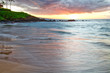 Beautiful and deep sunset at Wailea Beach in Wailea Maui Hawaii