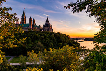 Parliament Of Canada In Ottawa Summer Sunset