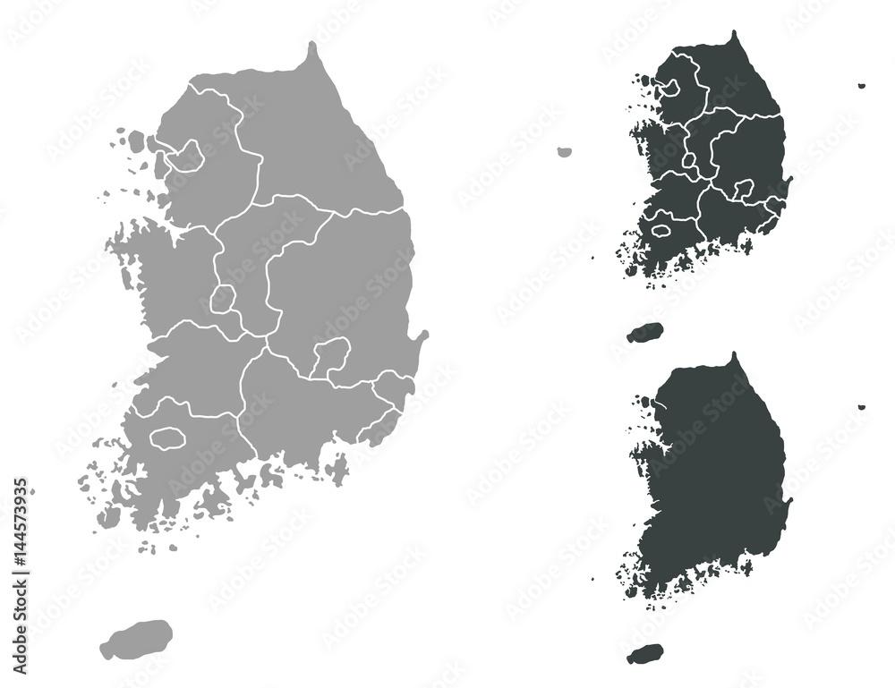 Fototapety, obrazy: Map of South Korea