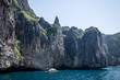 Cliff and the clear sea Phi Phi islands south of Thailand.
