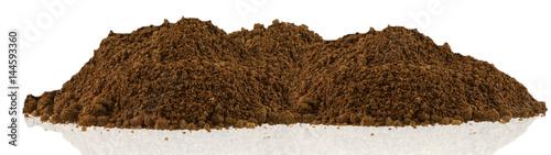 Obraz monticule de terre, fond blanc - fototapety do salonu
