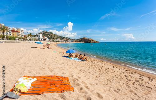 plage de Blanes, Costa Brava, Espagne Fototapete