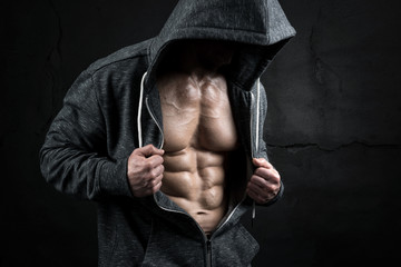 Fototapeta Fitness / Siłownia Man with great abs