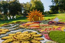 Sculpture Made From Summer Flowers