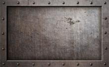 Old Metal Frame Background 3d ...