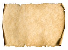 Old Paper Manusript Or Parchment Horizontally Oriented
