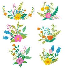 Floral Bouquets, Design Elemen...