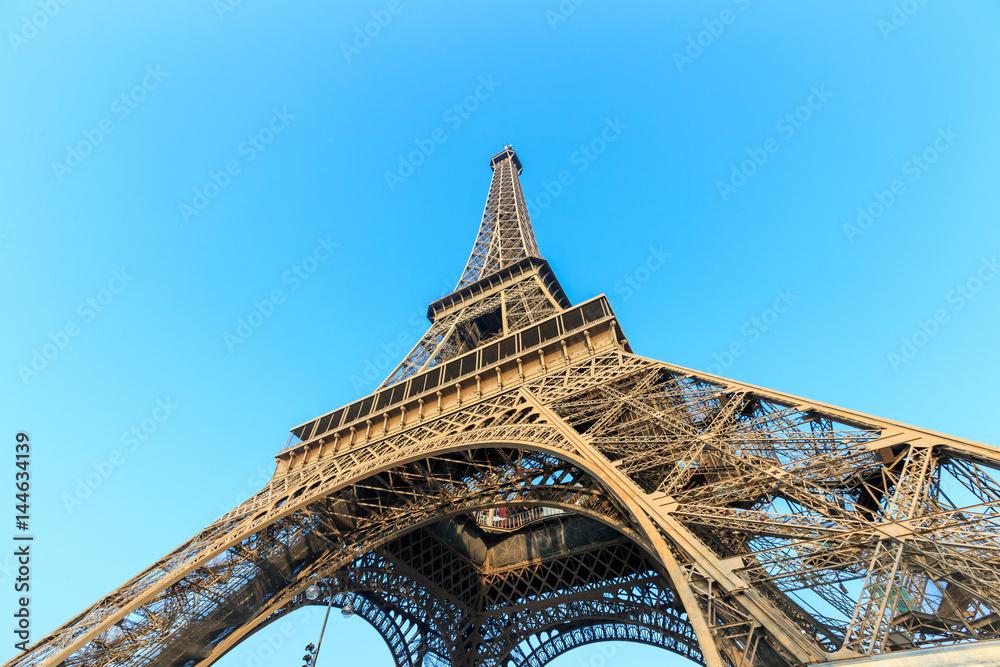 Fototapeta The Eiffel Tower in Paris - obraz na płótnie