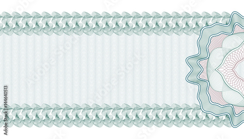 Guilloche Background for Gift Certificate, Voucher or Banknote ...