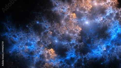 Foto op Aluminium Heelal Abstract fractal illustration looks like galaxies