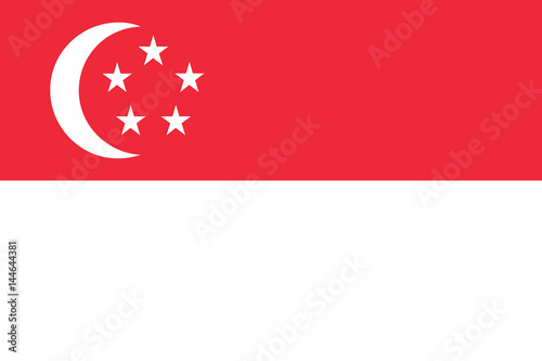 Photo  Flag of Singapore, Singapura, National flag of Singapore,